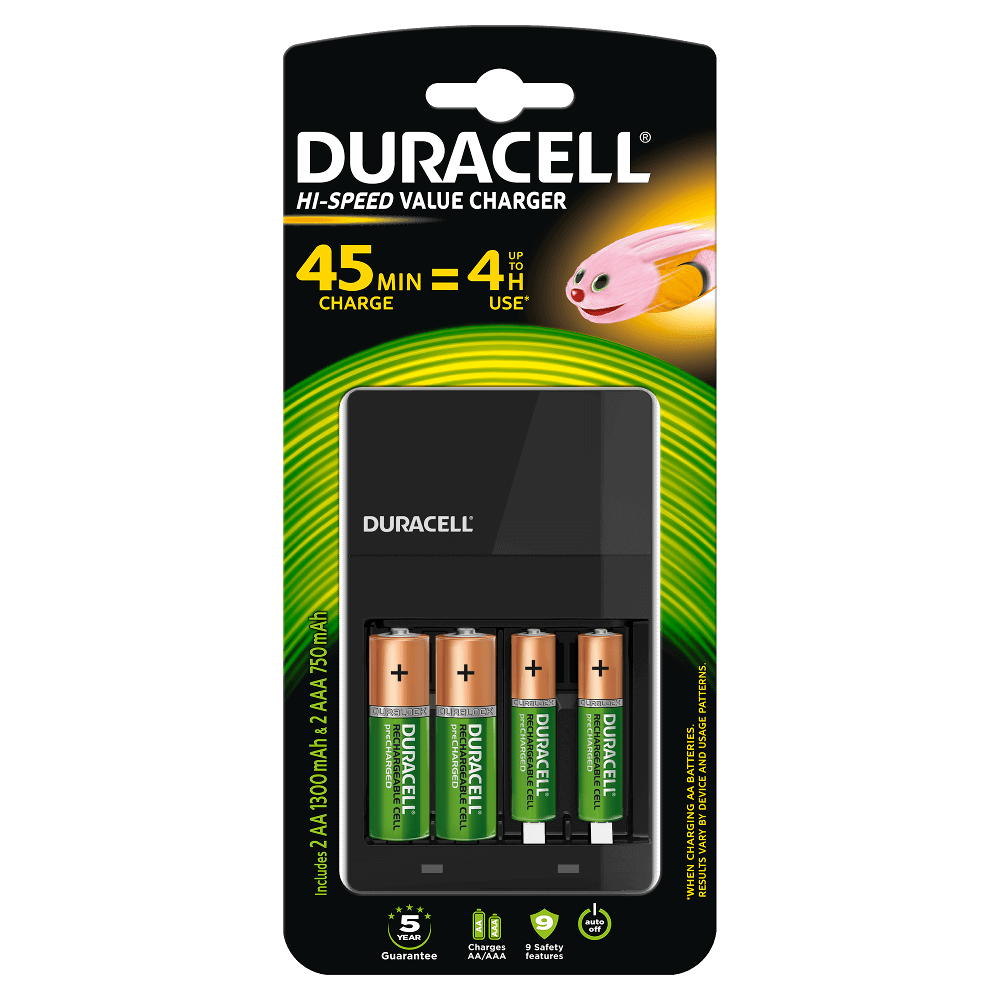 e69f92136dc Cargador Duracell Hi-Speed Charger para pilas AA y AAA