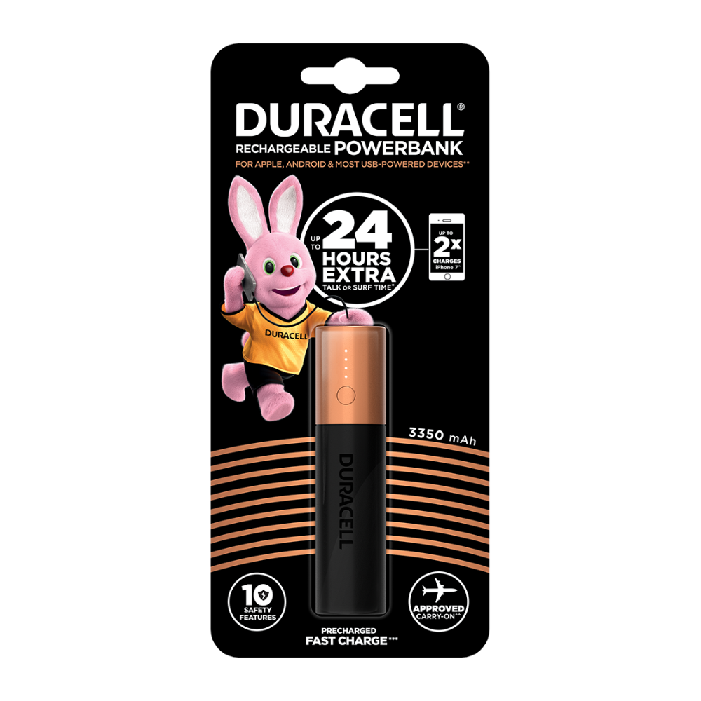 60482fa28 Duracell - bateria externa para dispositivos mobiles | Power Bank