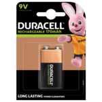 Duracell rechargeable 9V-170mAh paquete