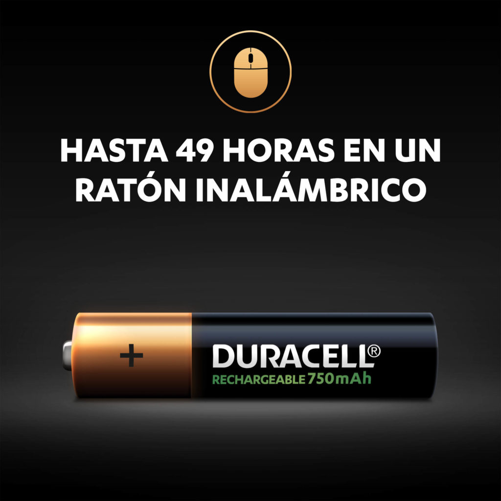 Duracell Rechargeable AAA 750mAh